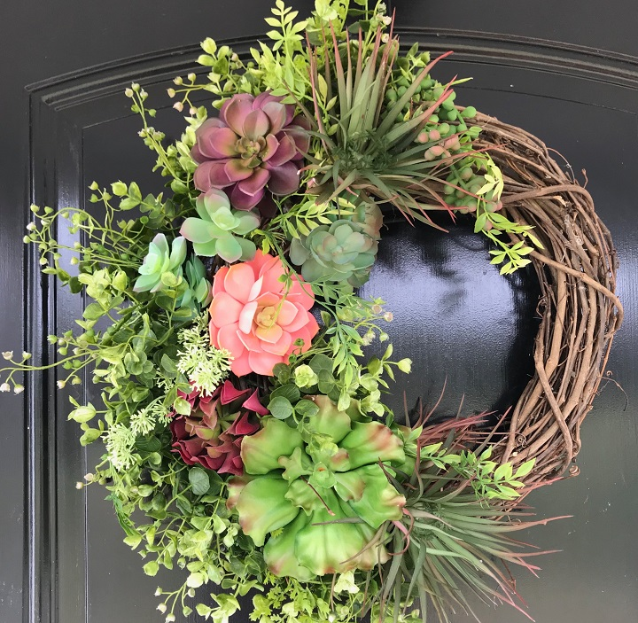 Wire Succulent Wreath Form